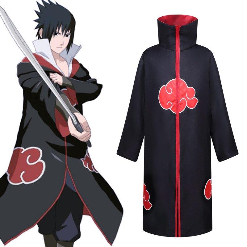 Anime Naruto Akatsuki Uchiha Itachi Robe Cloak Coat Cosplay  Costume For Men