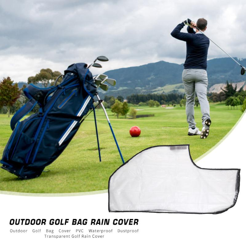 Outdoor Golf Bag Cover PVC Waterproof Dustproof Rainproof Transparent Golf Club Ball Bag Rain Cover Protector Storage Case