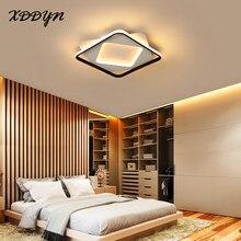 Plafoniera moderna a Led a cerchio quadrato per soggiorno camera da letto sala da pranzo decorazioni per la casa apparecchi lampada da soffitto in metallo lucido nero