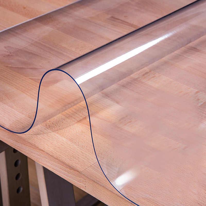Mantel difuso de 2mm, PVC transparente mantel, manteles rectangulares impermeables, mantel para mesa de centro, mantel para cocina, paño de vidrio suave