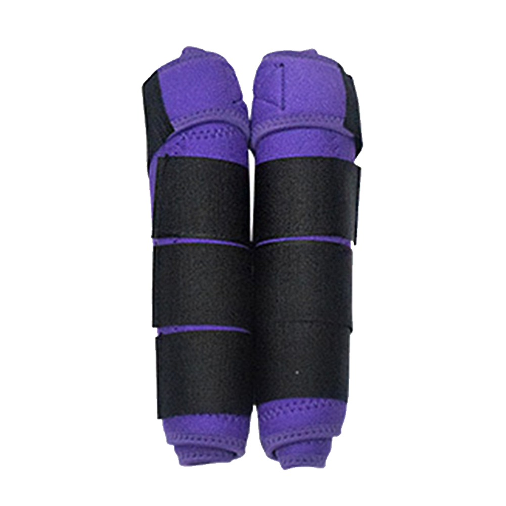 1 Pair Equestrian High Elastic Cloth Adjustable Leg Guards Protective Gear Sports Shock Absorbing Training Horse Soft Washable