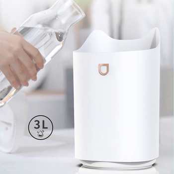 Air Humidifier 3000ml Home ultrasonic Aromatherapy Oil Diffuser Color LED lights Strong Cool Mist Maker for Office