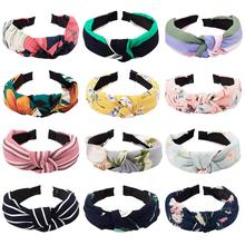 12 Pcs Hairbands for Women Knot Headbands for Women Knot Headband Floral Print Turban Headband Knotted Headband stylish print knot skirt for women