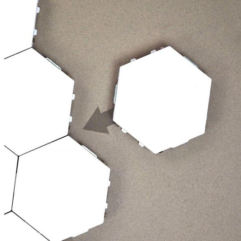 nova dropshoper led diy quantum luz sensivel ao toque sensor noite lampada modular hexagonal led lampada