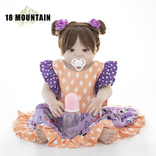 55cm Full Silicone Vinyl Body Reborn Girl Lifelike Baby Doll Newborn Princess Toddler Toy Bonecas Waterproof Birthday Gift