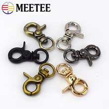 10Pcs 10mm Metal Buckles For Bag Cat Dog Hook Collar Lobster Clasps Swivel Snap Backpacks Straps KeyChain DIY Accessories