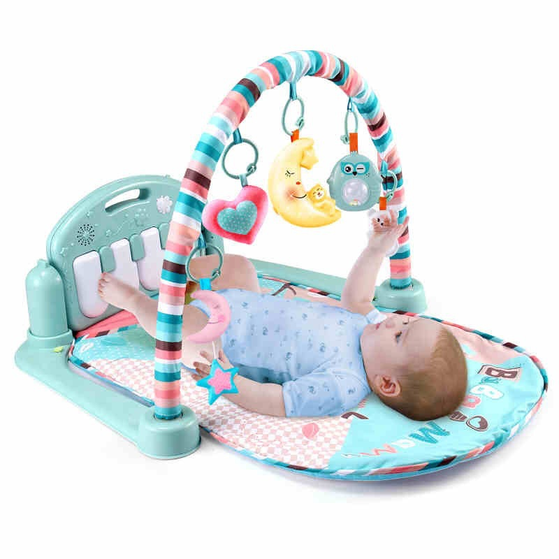 Infant Fitness Frame Maker Pedal Piano Children Music Game Blanket Baby Toy 0-1-Year-Old 3-6-12 Month