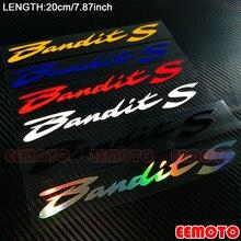 Motorcycle body Wheel Rims Fairing Helmet Tank Pad Label reflective Stickers Decals For SUZUKI Bandit S 250 600 650 1200 1250