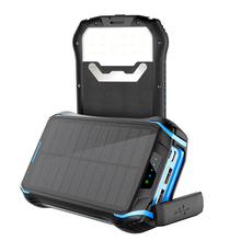 26800mAh Solar Power Bank 10W Fast Qi Wireless Charger For i