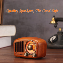 FM Speakers Radio Portable Wood Music Box Crafts Subwoofer Solid For Home Outdoor Mini Wooden Indoor Old Time Player