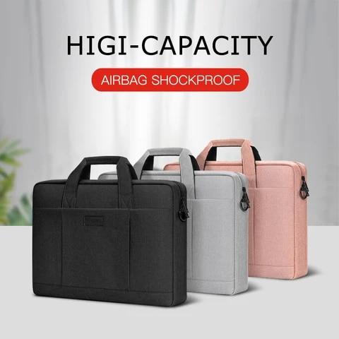 Shockproof Laptop Bag 12 13 14 15.6 17.3inch Lady Man Sleeve Case For Huawei XiaoMi MacBook Air Pro 13.3 M1 Handbag Briefcase