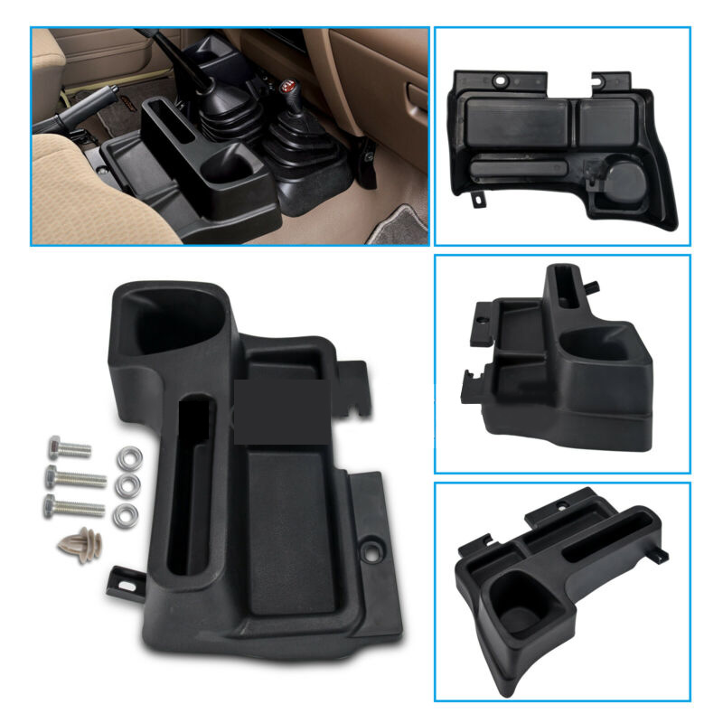 Black Car Center Console Storage Box Plastic Material Fit For <font><b>Toyota</b></font> Land Cruiser LC70 LC71 <font><b>LC76</b></font> LC77 LC79 image