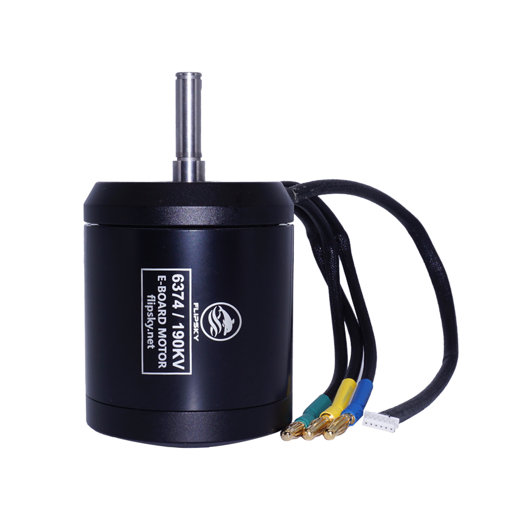Flipsky BLDC Belt Motor 6374 190KV 3250W For Electric Skateboard With Waterproof And Dustproof Function