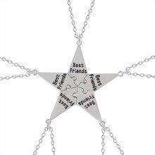 Nouveau meilleur ami collier créatif étoile à cinq branches pendentif alliage accessoires hommes et femmes amitié mode bijoux cadeau 2020