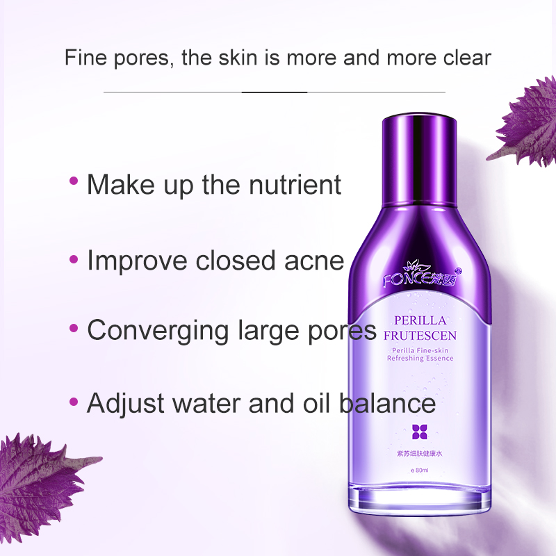 Fonce Korea Perilla Astringent Pore Toner Soothing Repair To Close Acne Control Oil Moisturizing Makeup Water Whitening Light 3
