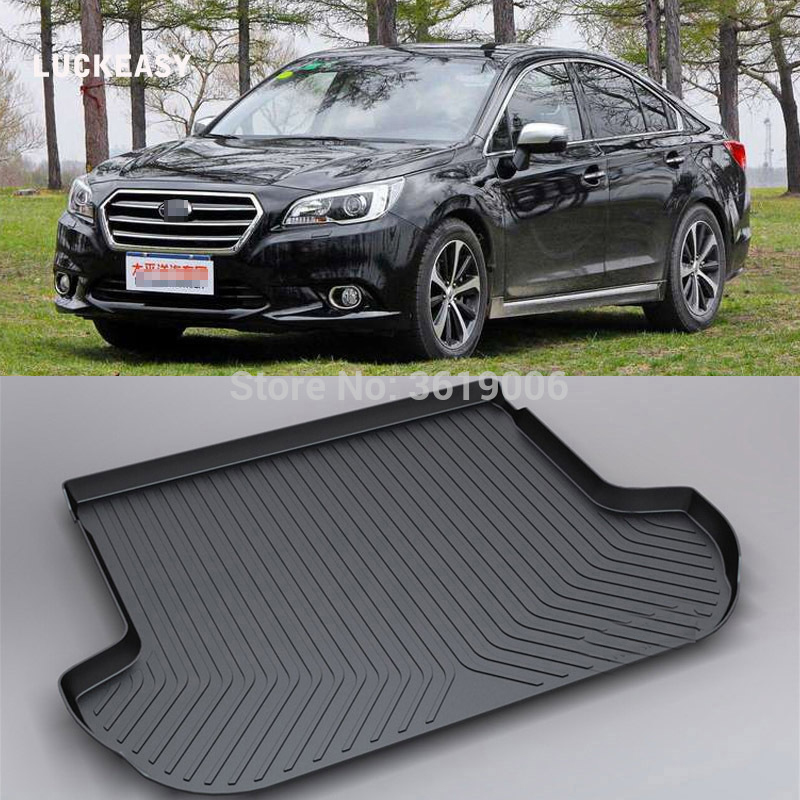 LUCKEASY Non-Slip For Subaru Legacy XV 2018 Waterproof 3D TPO Trunk Boot Cargo Mat Recycled Durable Car-styling