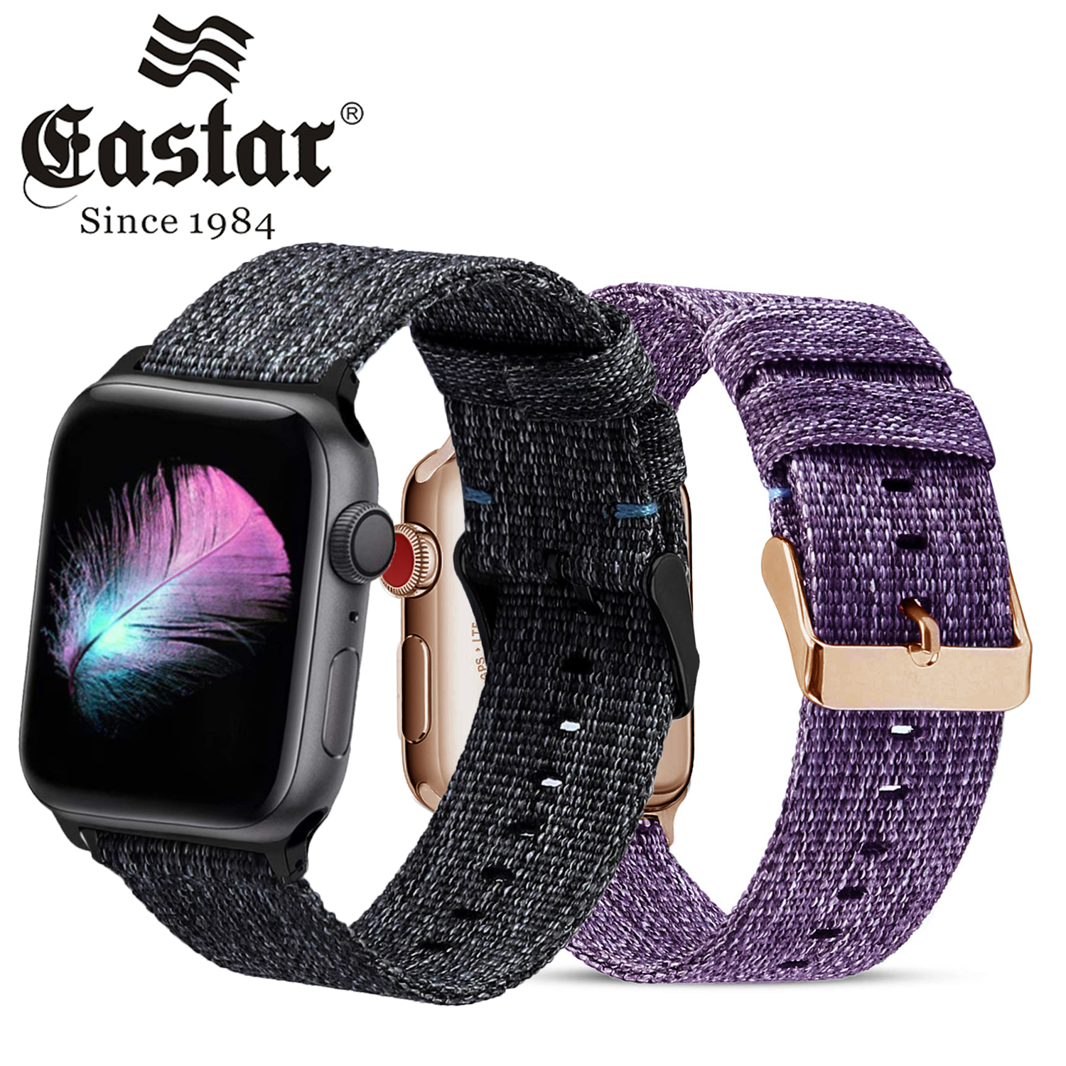 Woven Nylon Strap For Apple Watch Series 3/2/1 38MM 42MM Breathable Replacement Strap Sport Loop For Iwatch Series 5 4 40MM 44MM