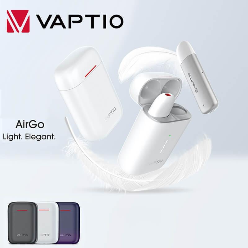 Newest E Cigarette Original Vaptio AirGo Vape Pod 1.5ml Cartridge 80mAh Battery Mod With 700mAh Battery Box Vaporizer Kit
