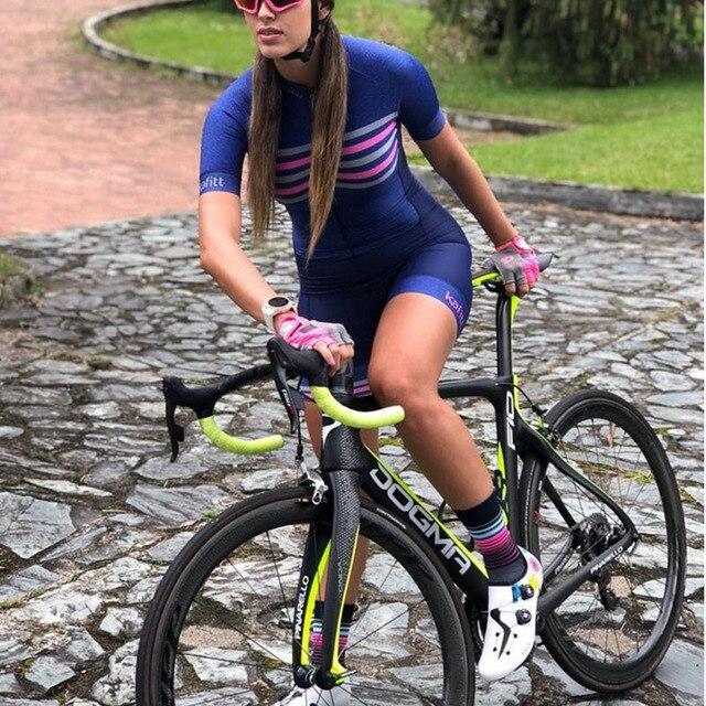 20189d triathlon conjuntos de terno do corpo feminino peça competição respirável camisa uci ciclismo skinsuit 1