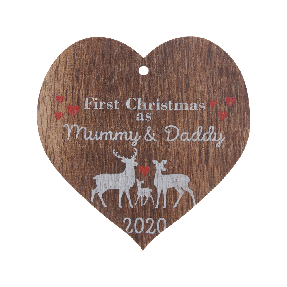 New Year Love Heart Wooden Door Hanging Sign Christmas Tree Ornament For Home Wooden Pendant Gift Festival Decoration Pendant Drop Ornaments Aliexpress