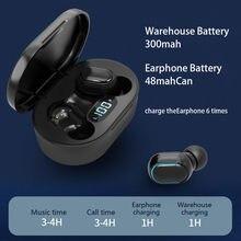 PJD TWS bezprzewodowe słuchawki Bluetooth słuchawki z redukcją szumów wodoodporny wyświetlacz LED ekran słuchawka douszna 3D słuchawki Stereo #