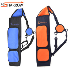 цена на 1pc Shoulder Back Arrow Quiver Adjustable Portable Quiver Arrows For Compound/Recurve Bow Hunting Shooting Archery Accessories