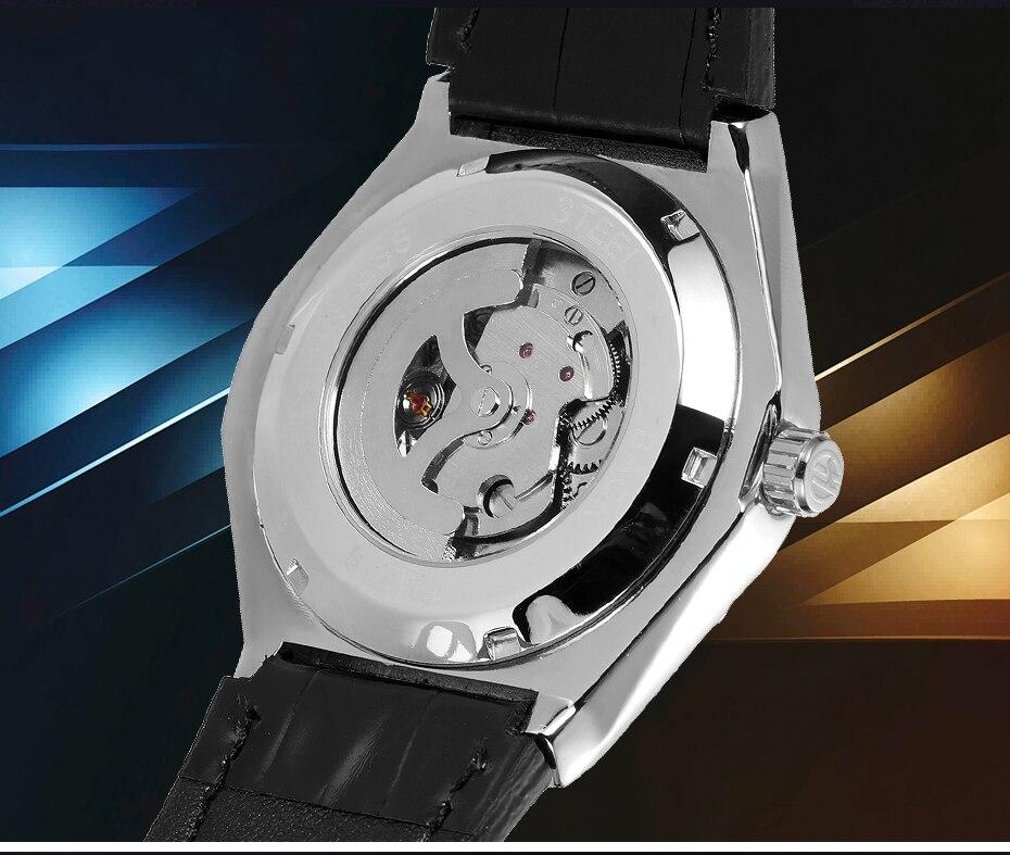 marca esqueleto relógios automáticos aço inoxidável esporte