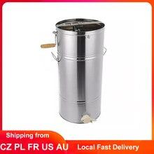 Extractor de miel de abeja, centrifugadora de miel para apicultura, 25x45CM, Manual de acero inoxidable, 2 marcos