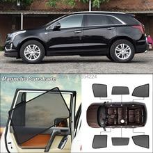 Car Side Windows Magnetic Sun Shade UV Protection Ray Blocking Mesh Visor For Cadillac XT5