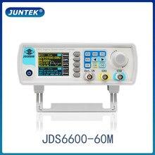 Juntek JDS6600-15M 15mhz dds função gerador de sinal controle digital medidor de freqüência de canal duplo gerador de forma de onda arbitrária