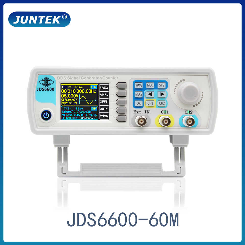 Juntek JDS6600-60M 60 MHz Máy Phát Tín Hiệu Điều Khiển Kỹ Thuật Số Đôi Máy DDS Chức Năng Máy Phát Tín Hiệu Tần Số Đồng Hồ Đo Tùy Ý