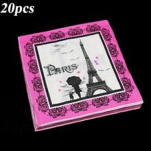20 teile/paket Eiffelturm thema einweg servietten Eiffelturm thema geburtstag party dekoration Paris Turm einweg servietten