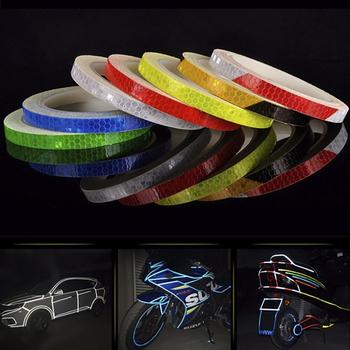 2020 samochodów odblaskowe naklejki motocykl reflektor rowerowy ostrzeżenie o bezpieczeństwie naklejka na felgę taśmy akcesoria samochodowe 7 kolorów dekoracji samochodu tanie i dobre opinie CN (pochodzenie)