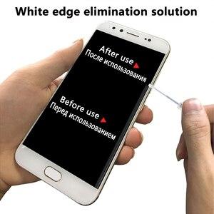 Image 4 - 10 шт. 2.5D arc edge телефон Закаленное стекло пленка белый жидкое масло удаление наполнитель, инструмент для наклеивания пленки, белый край ремонт жидкости