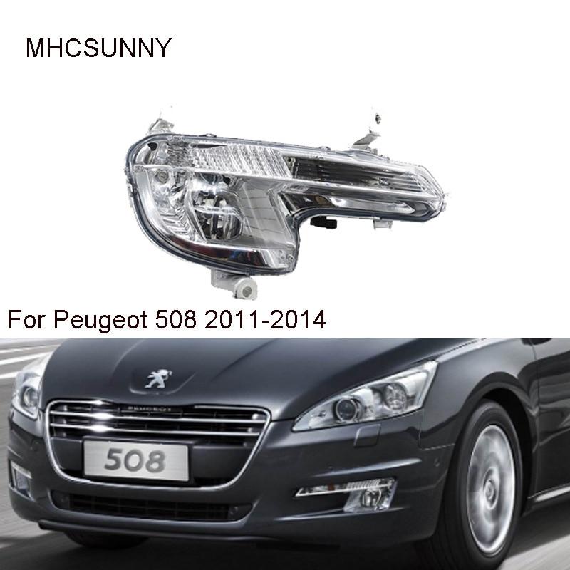 Front Bumper Fog Light For Peugeot 508 2011-2014 Car Day Light Foglamp No Bulb