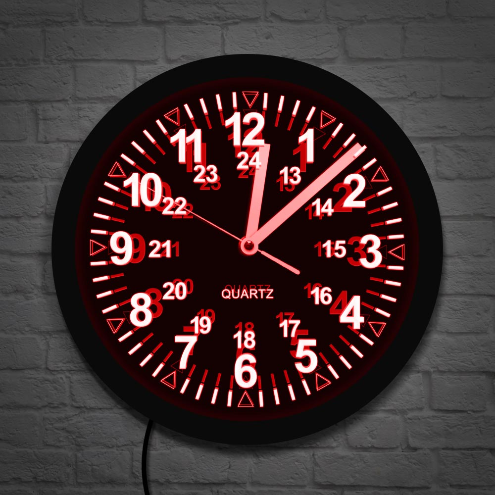 Wall Clock With Led Backlight