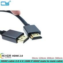 Ad alta velocità placcato oro cavo HDMI 2.0 4 K 1080 P 60HZ maschio a maschio cavo adatto per HDTV LCD PS3 proiettore del computer 1.2m 3m