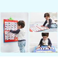 Children Learning Bilingual Voice Wall Chart Sound Book Early Education Toys