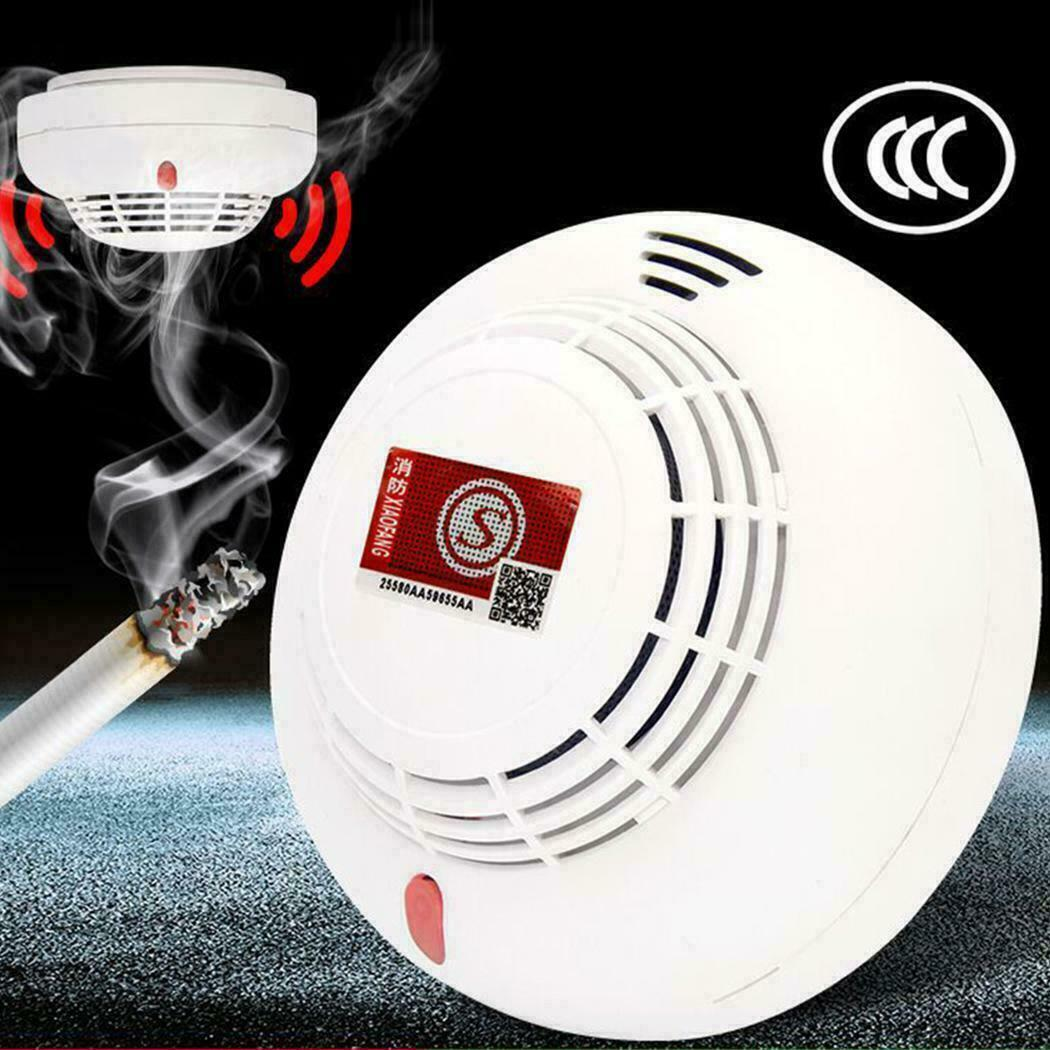 1Pc Smoke Detector Fire Alarm Ionisation Warning Monitor Sensor Indoor Independent Mist Detector Household Alarm Tool Practical