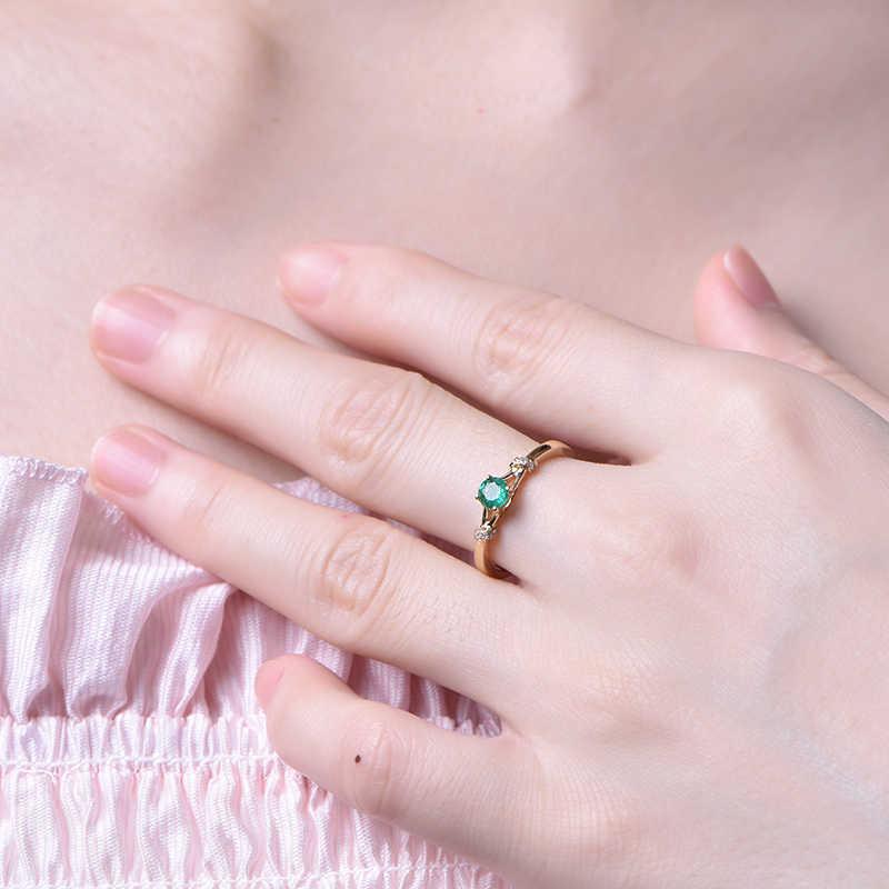 ใหม่กระชับการออกแบบ Emerald Lady แหวนมรกต Zircon เครื่องประดับแฟชั่นของขวัญวันแม่เครื่องประดับแหวนผู้หญิง