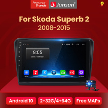 Junsun V1 2G + 32G Android 10,0 RDS ForSkoda Superb 2 2008-2015 Auto Radio Multimedia Video player Navigation GPS 2 din dvd
