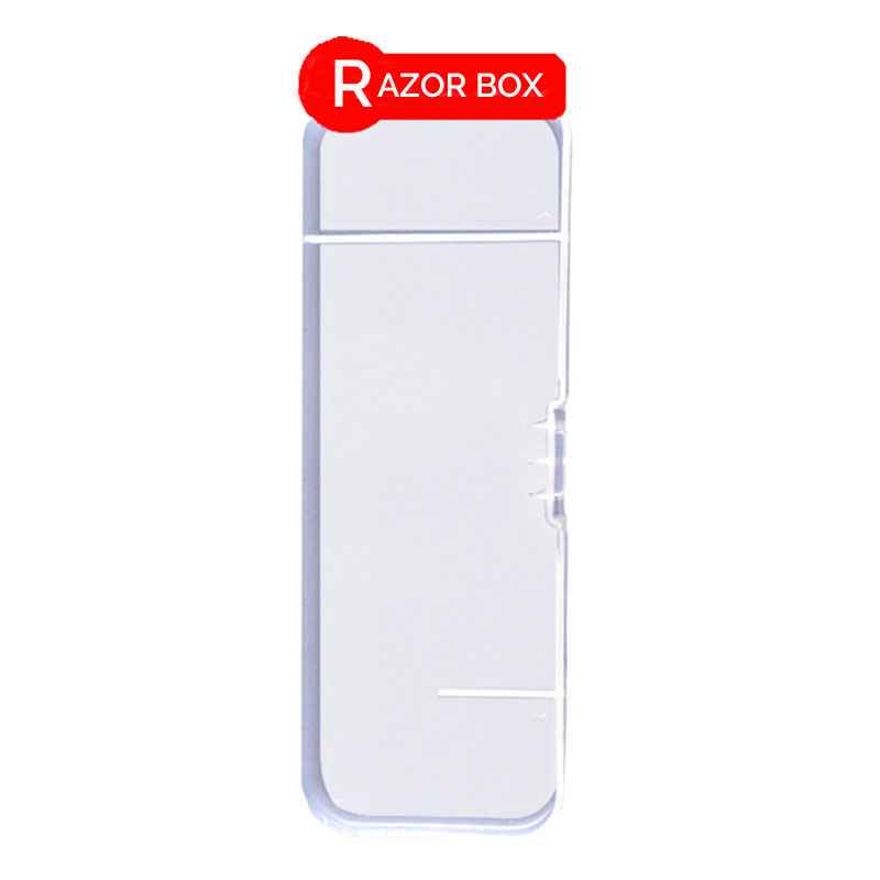 Razor Post Travel Box For Men Razor Shaver Blade Travel Case Razor Handle Holder Box Suitable For Most Razor L-RC01