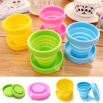 Portable Silicone Retractable Folding Cup Telescopic Collapsible Outdoor Travel image