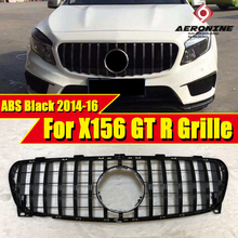 Fit For MercedesMB X156 GLA Sport grille grill GTS style ABS Black Without Sign GLA180 200 GLA45 Look Front Bumper Grills 14-16