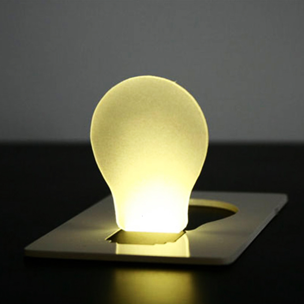 Mini Folding Portable Pocket Card LED Night Light Torch Flashlight Lamp Striking Lamp Bulbs Cute Paper Card Flashlight
