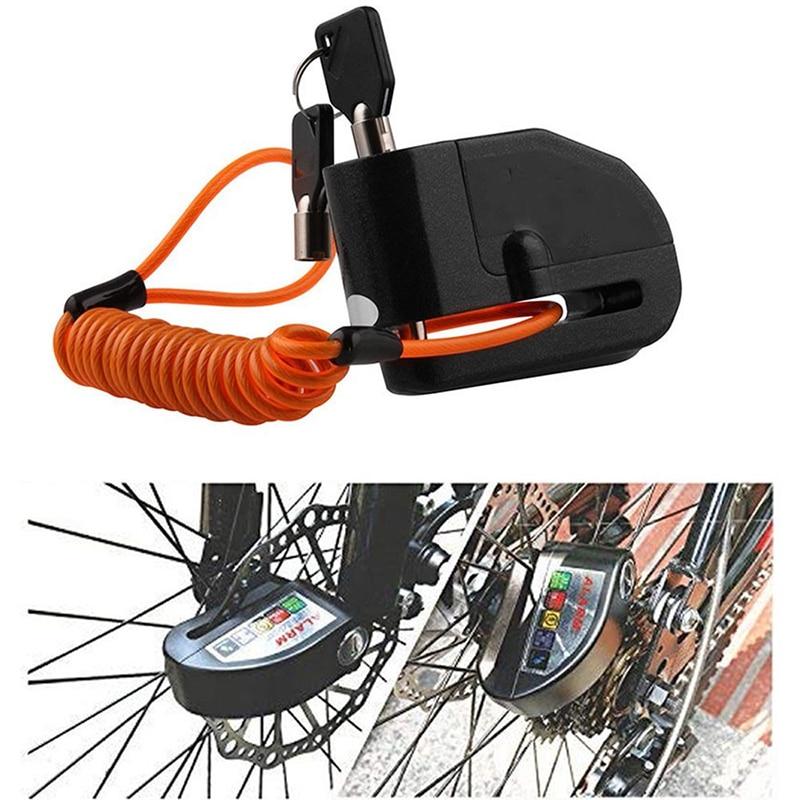 Universal Motorcycle Alarm Lock Bicycle Anti-theft Wheel Disc Brake Lock Waterproof Security Alarm Protection Safety Siren Lock
