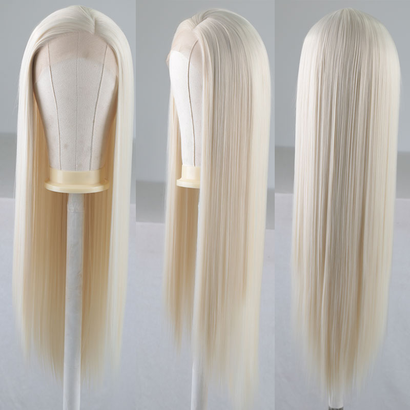 Big SaleµBombshell Parting Lace-Front Wigs Hair-Side Heat-Resistant-Fiber Natural-Hairline Glueless