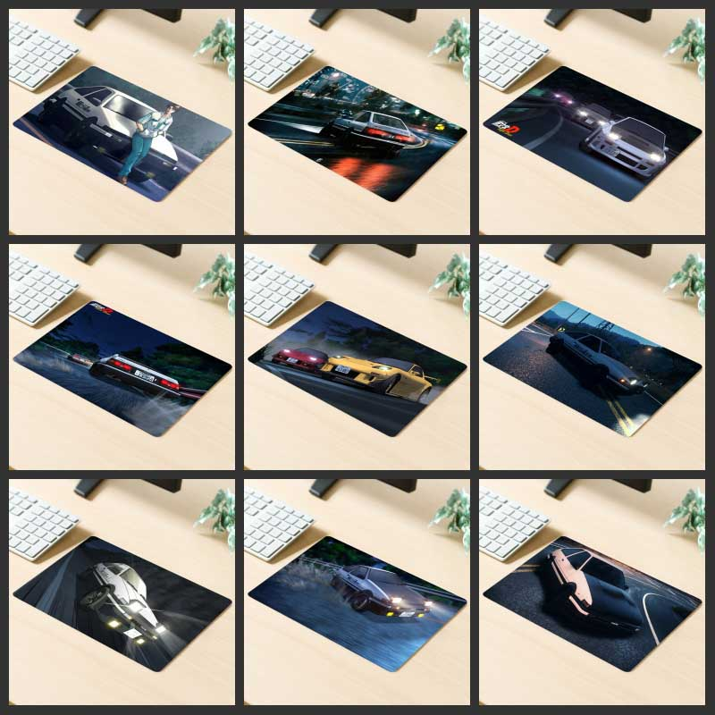 XGZ Big Promotion Gaming Mouse Pad Popular Anime Car Racing Feelings Computer Desk Mat Rubber Stripes Non-slip Custom Coasters