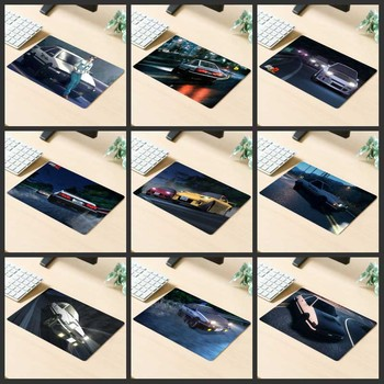 XGZ Big Promotion Gaming Mouse Pad Popular Anime Car Racing Feelings Computer Desk Mat Rubber Stripes Non-slip Custom Coasters image