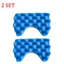 2 pièces de filtre Hepa en éponge bleue et 2 pièces de filtre en coton pour aspirateur Samsung SC6520/30/40/50/60/70/80/90 SC68